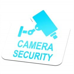 Camera Security Sticker Blue