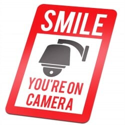 Smile You're On Camera Sticker