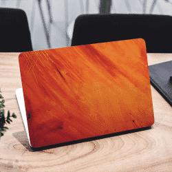 Abstract Paint Orange Laptop Sticker Skin