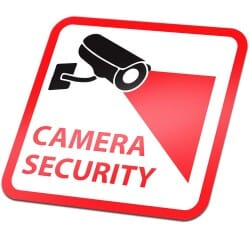 Camera Security Sticker Red