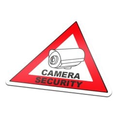 Camera Security Sticker Triangle