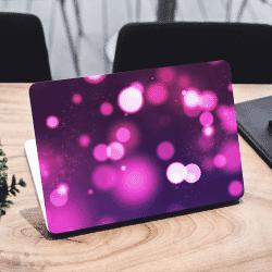 Bokeh Purple Laptop Sticker...