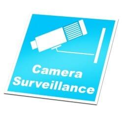 Camera Surveillance Sticker Ultra blue