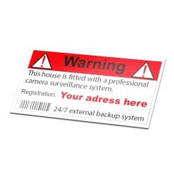 Camera Security Sticker With Your Own Address
