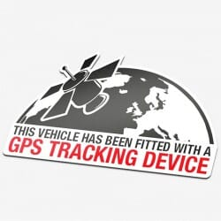 Planet GPS Tracking Device Sticker