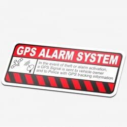 GPS Alarm System Sticker