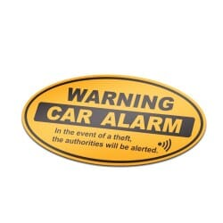 Warning Car Alarm Sticker