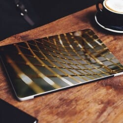 Abstract Gold Lines Laptop Sticker Skin