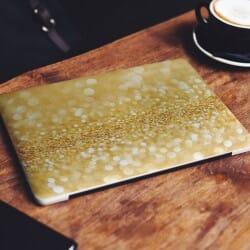 Burning Gold Laptop Sticker Skin