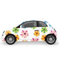 Bright Colors Flowers Car Stickers