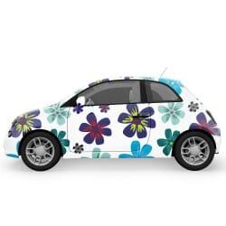 Happy Flowers Car Stickers