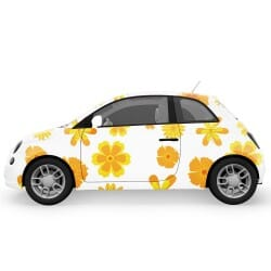 Orange and Yellow Flowers Car Stickers