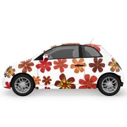 Autumn Flowers Car Stickers