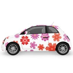 Pink and Purple Flowers Car Stickers