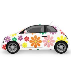 Colorful Flowers Car Stickers