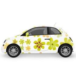 Summer Green Flowers Car...