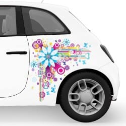 Flower Grafitti Car Stickers