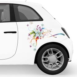 Flower Striping Car Stickers