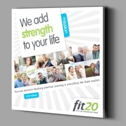 fit20 Wallvisual Mission &...