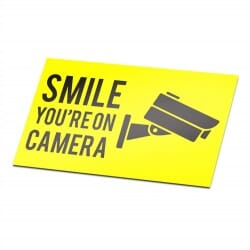 Camera Security Sticker Smile Yellow