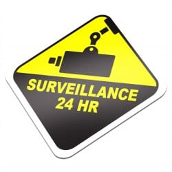 24 Hours Surveillance Sticker